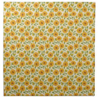Beautiful yellow Summer Sunflowers pattern Napkin