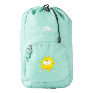 beautiful yellow sun keep shinning backpack