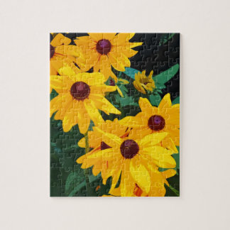 Beautiful yellow sunflowers print jigsaw puzzle