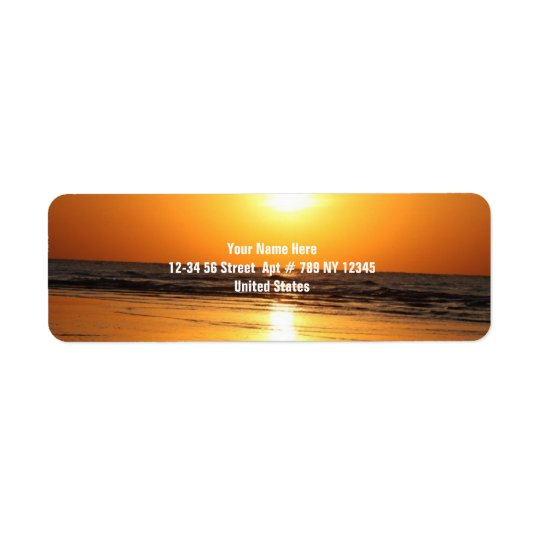 Beautiful Yellow Sunset 2 Return Address Label