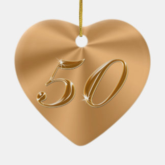 Beautiful yet Cheap 50th Anniversary Gifts Double-Sided Heart Ceramic Christmas Ornament
