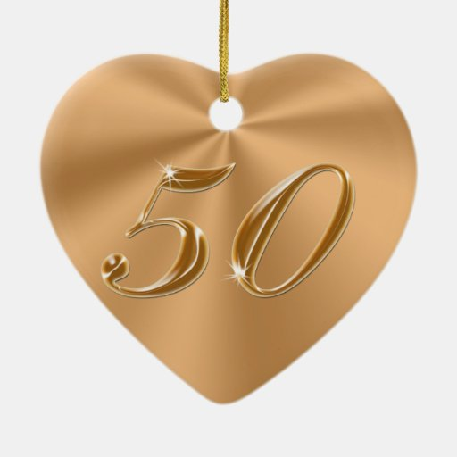 Beautiful yet Cheap 50th Anniversary Gifts Ornaments
