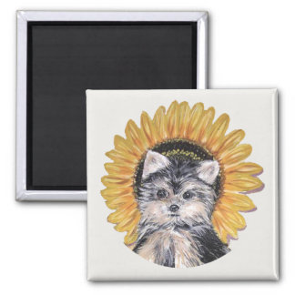 Beautiful Yorkshire Terrier Dog Magnet