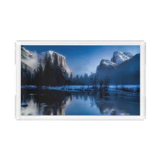 Beautiful yosemite national park landscape acrylic tray