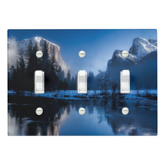 Beautiful yosemite national park landscape light switch cover