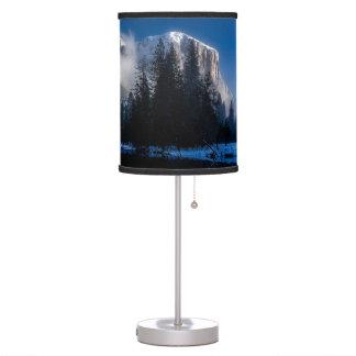 Beautiful yosemite national park landscape table lamp