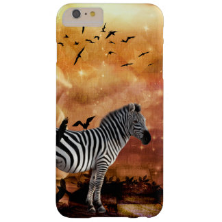 Beautiful zebra with birds barely there iPhone 6 plus case