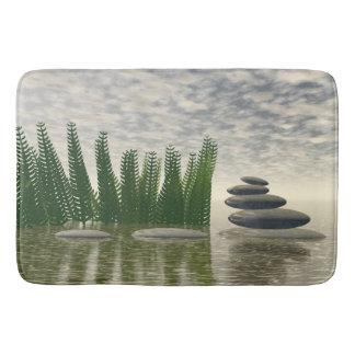 Beautiful zen landscape in the middle of aquatic bath mat