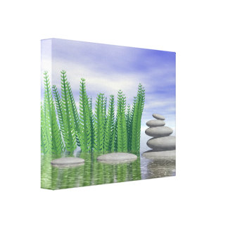 Beautiful zen landscape in the middle of aquatic canvas print