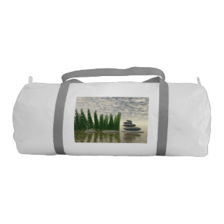 Beautiful zen landscape in the middle of aquatic gym bag