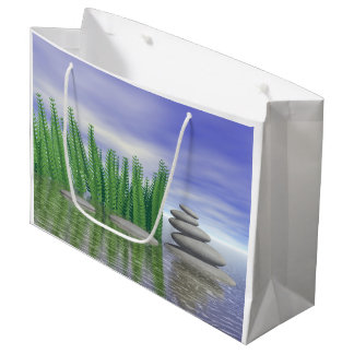Beautiful zen landscape in the middle of aquatic large gift bag