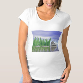 Beautiful zen landscape in the middle of aquatic maternity T-Shirt