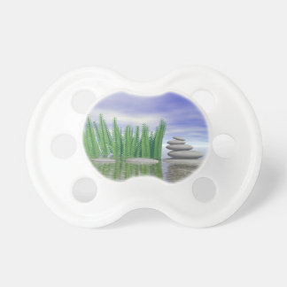 Beautiful zen landscape in the middle of aquatic pacifier