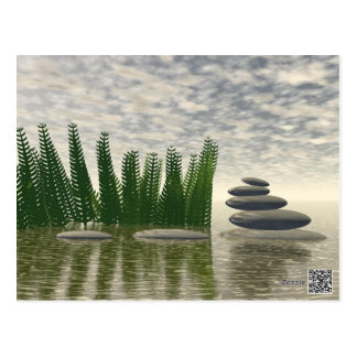 Beautiful zen landscape in the middle of aquatic postcard