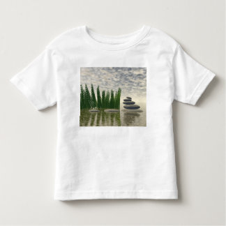 Beautiful zen landscape in the middle of aquatic toddler t-shirt