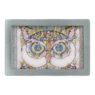 BEAUTIFULL BLUE EYED OWL. BELT BUCKLE