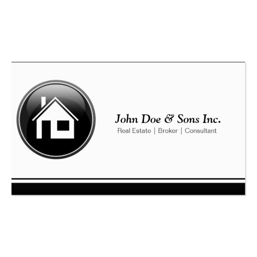 Beautifull Real Estate Broker icon Business Card