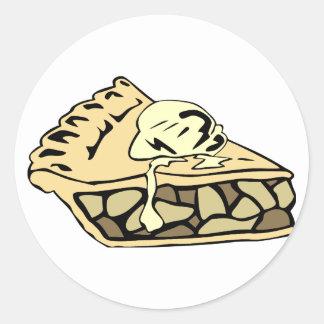 Beautifully creamy apple pie classic round sticker