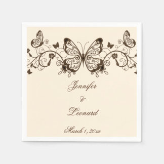 Beautifully Elegant Butterfly Wedding Napkins Disposable Napkin