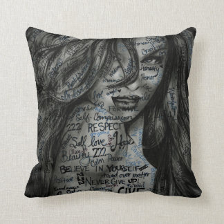 Beautifully Motivated Throw Pillow