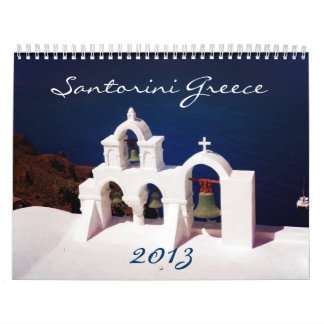 Beauttiful Santorini Greece Wall Calendars