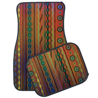 Beautuful Translucent Tribal Pattern Car Mat