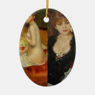 Beauty and Art can do everything Ceramic Ornament