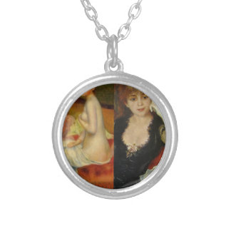 Beauty and Art can do everything Silver Plated Necklace