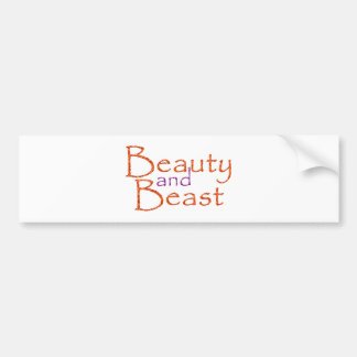Beauty and Beast Bumper Sticker