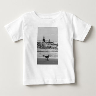 Beauty And Force Grayscale Baby T-Shirt