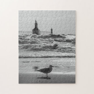 Beauty And Force Grayscale Jigsaw Puzzle