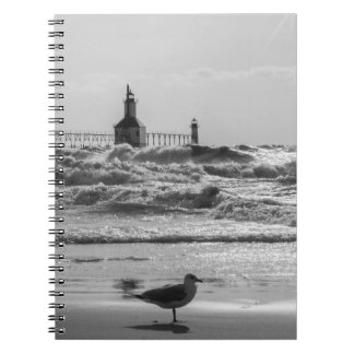 Beauty And Force Grayscale Notebook
