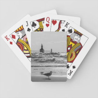 Beauty And Force Grayscale Playing Cards