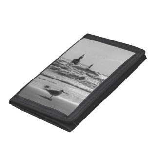 Beauty And Force Grayscale Trifold Wallet