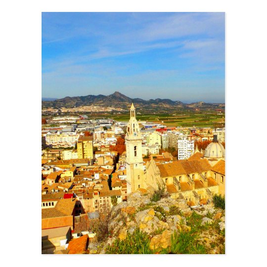 Beauty and peace xativa spain city postcard