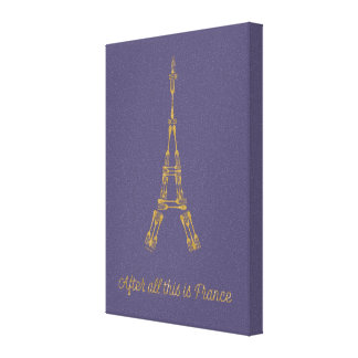 Beauty and the Beast | After All This Is France Canvas Print