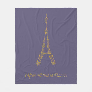 Beauty and the Beast   After All This Is France Fleece Blanket