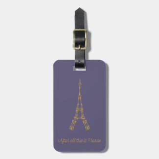 Beauty and the Beast | After All This Is France Luggage Tag