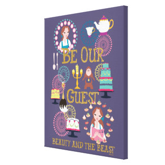 Beauty And The Beast | Be Our Guest Canvas Print