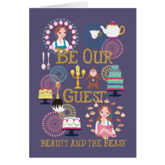 Beauty And The Beast | Be Our Guest Card