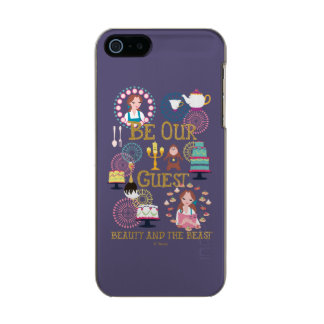 Beauty And The Beast   Be Our Guest Incipio Feather® Shine iPhone 5 Case