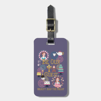 Beauty And The Beast   Be Our Guest Luggage Tag