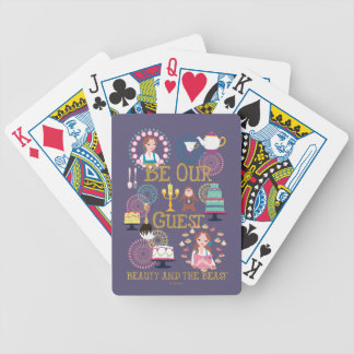 Beauty And The Beast | Be Our Guest Poker Deck