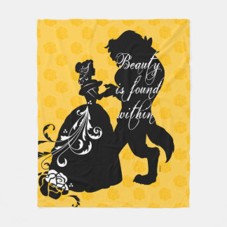 Beauty And The Beast | Beauty is Found Within Fleece Blanket