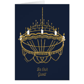 Beauty and the Beast | Chandelier - Be Our Guest Card