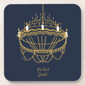 Beauty and the Beast | Chandelier - Be Our Guest Coaster