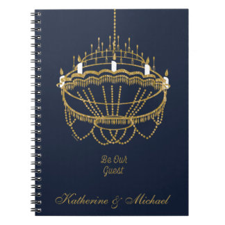 Beauty and the Beast | Chandelier - Be Our Guest Spiral Note Books