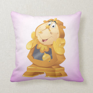 Beauty And The Beast | Cogsworth Throw Pillow