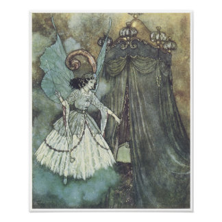Beauty and the Beast, Edmund Dulac Poster