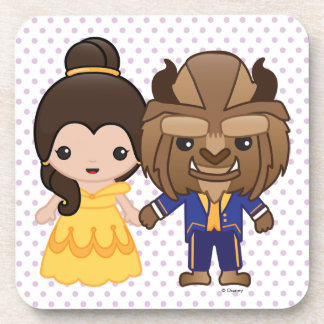 Beauty and the Beast Emoji Beverage Coasters